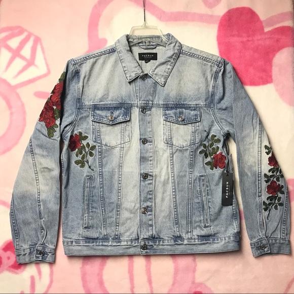 Pacsun Jackets Coats New Rose Denim Trucker Jacket Size Large